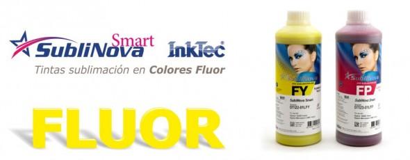 Tintas Flúor para impresión textil, sublimación
