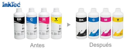 Nueva imagen para las botellas de tinta a granel Inktec