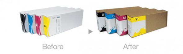 Cajas de litro de tinta