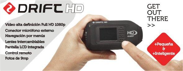 Llega la nueva cámara DRIFT HD. Más pequeña y mejor