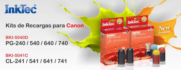 Nuevas recargas Inktec para Canon PG-240/ 540/ 640/ 740 y CL-241/ 541/ 641/ 741