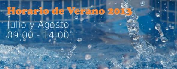 Horario especial verano 2013