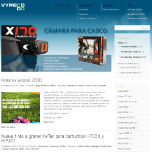 captura web www.vyreco.com